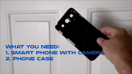 Cell phone peephole hack phone case