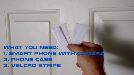 Cell phone peephole hack velcro