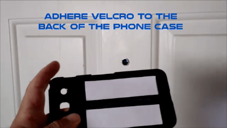 Cell phone peephole hack apply velcro
