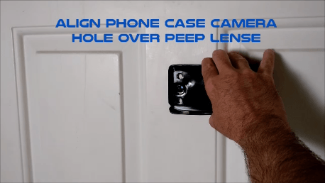 Cell phone peephole hack phone attach phone
