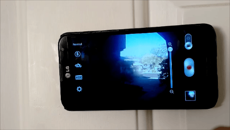 Cell phone peephole hack open camera app